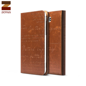 Zenus Lettering Diary  Case for Galaxy Tab 3 7.0 - Brown