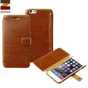 Zenus Lettering Diary iPhone 6S Plus / 6 Plus Case - Brown