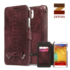 Zenus Masstige Croco Diary Case for Samsung Galaxy Note 3 - Wine
