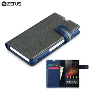 Zenus Masstige Modern Edge Diary Case for Sony Xperia Z - Grey