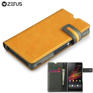 Zenus Masstige Modern Edge Diary Case for Sony Xperia Z - Yellow