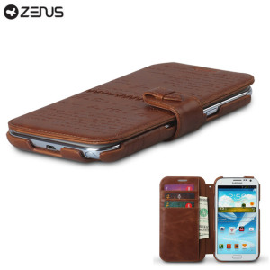 Zenus Masstige Samsung Galaxy Note 2 Lettering Diary Series - Brown