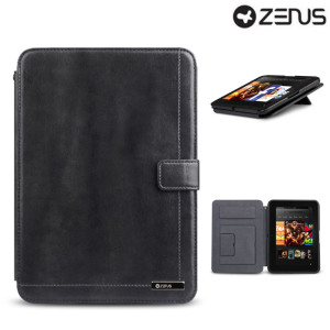 Zenus Neo Classic Diary for Kindle Fire HD 2012 - Dark Grey