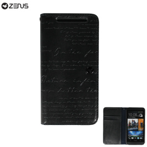 Zenus Prestige HTC One 2013 Lettering Diary Series - Dark Grey