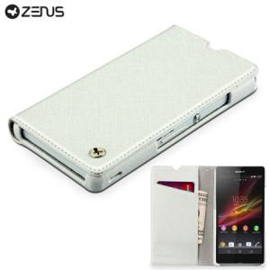 Zenus Prestige Minimal Diary for Sony Xperia Z - White