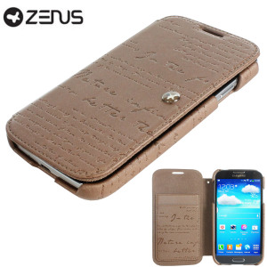 Zenus Prestige Samsung Galaxy S4 Lettering Diary Series - Pearl Brown