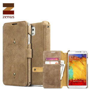 Zenus Retro Vintage Diary Case Samsung Galaxy Note 3 - Vintage Brown