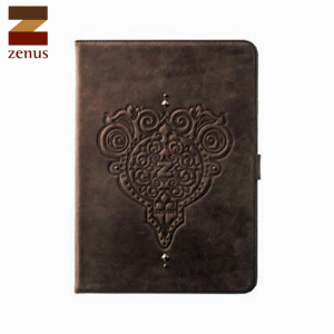 Zenus Retro Vintage Diary for iPad Air - Dark Brown
