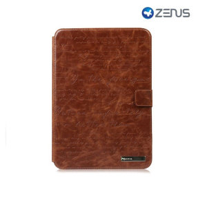 Zenus Samsung Galaxy Note 10.1 Masstige Lettering Folder Case - Brown