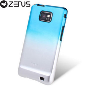 Zenus Skin Jacket UV Gradation Series Samsung Galaxy S2 - Silver Blue
