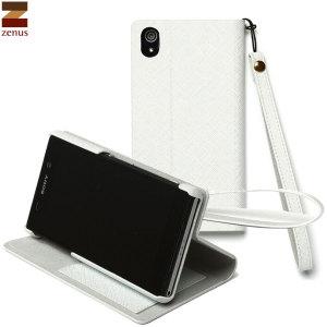 Zenus Sony Xperia Z2 Minimal Diary Stand Case - White