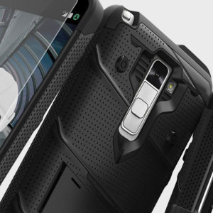 Zizo Bolt Series LG Stylo 2 Tough Case & Belt Clip - Black