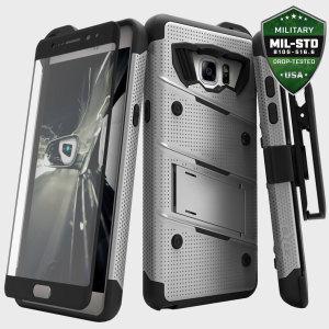 Zizo Bolt Series Samsung Galaxy Note 7 Tough Case & Belt Clip - Steel
