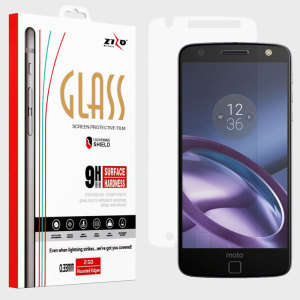 Zizo Lightning Shield Moto Z Force Tempered Glass Screen Protector