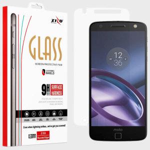 Zizo Lightning Shield Motorola Moto Z Tempered Glass Screen Protector