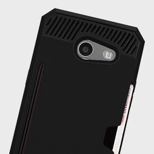 Zizo Metallic Hybrid Card Slot Samsung Galaxy J3 2017 Case - Black