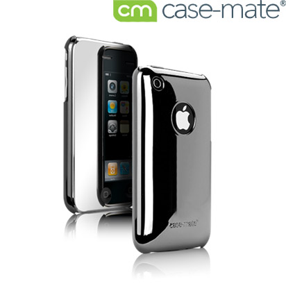 Case-Mate Barely There Case With Screen Protector - iPhone 3GS / 3G - Chrome