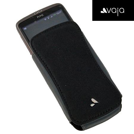 Vaja Classic Leather Pocket for HTC Desire & Nexus One - Black