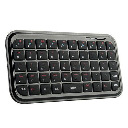 Mini Bluetooth Multimedia Keyboard For iOS 4 - Black