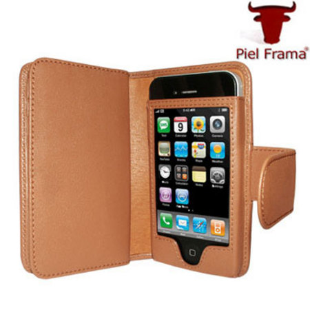 check out 3a44b 175b9 Piel Frama Leather Wallet Case for Apple iPhone 4 - Tan