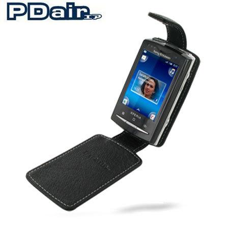 Pdair Leather Flip Case Sony Ericsson Xperia X10 Mini Pro