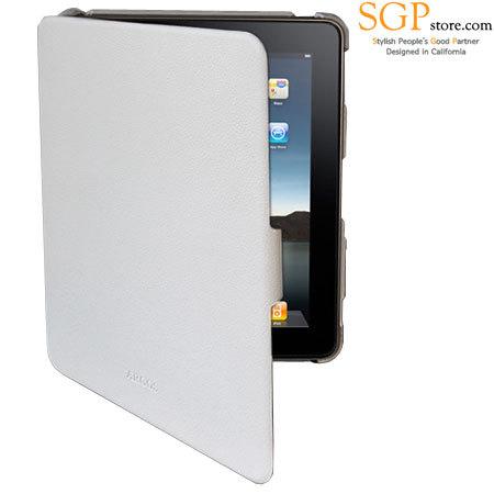 SGP Argos Series Leather Case for iPad - White