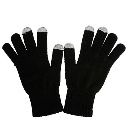 Dot Gloves for Capacitive Touch Screens - Black