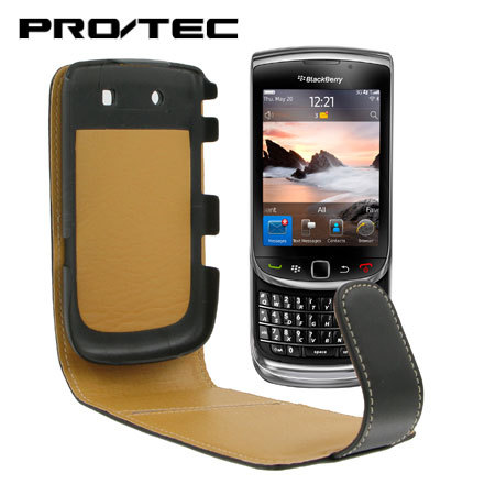 Pro-Tec Executive Leather Flip Case - BlackBerry 9800 Torch