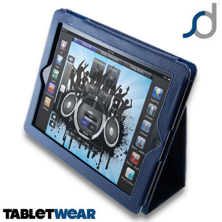 SD TabletWear Stand and Type iPad 4 / 3 / 2 Case  - Blue