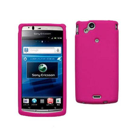 bf6bc5062b3 Funda de silicona para Sony Ericsson XPERIA Xperia arc S / arc - Rosa