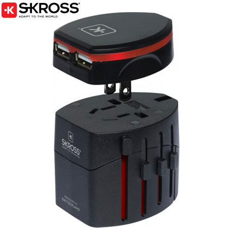 Skross World Travel Adaptor with Evo Twin USB