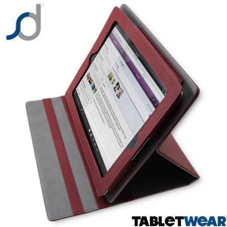 SD TabletWear LuxFolio iPad 4 / 3 / 2 Case - Red