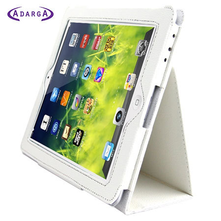 Adarga Stand and Type iPad 4 / 3 / 2 Case - White