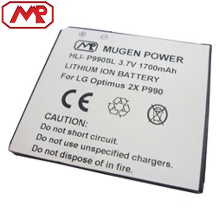 Mugen LG Optimus 2X / 3D Extended Battery  - 1700mAh
