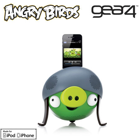 Gear4 Angry Birds Speaker for Apple Devices - Helmet Pig