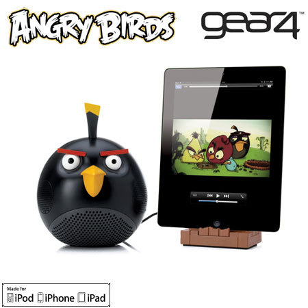 Gear4 Angry Birds Speaker for Apple Devices - Black Bird