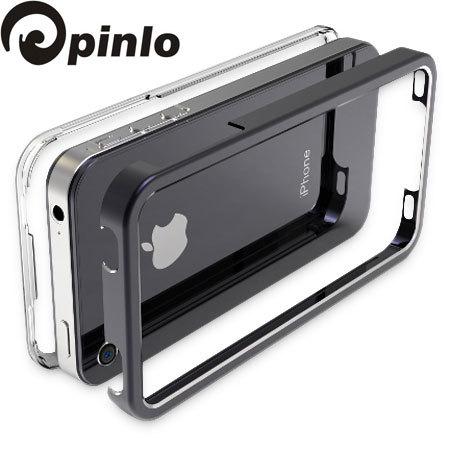 Pinlo United Aluminium Edge Case for iPhone 4S / 4 - Black