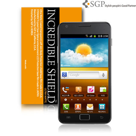 SGP Incredible Shield Full Body Galaxy S2 Protector - Ultra Matte