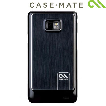 Case-Mate Barely There For Samsung Galaxy S2 Brushed Aluminium  - Black