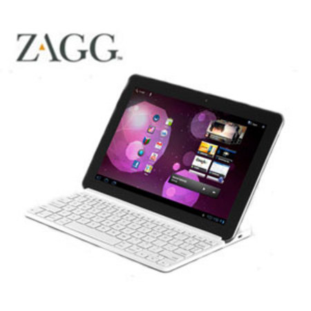ZAGGkeys SOLO Bluetooth Keyboard for Tablets and Smartphones - White