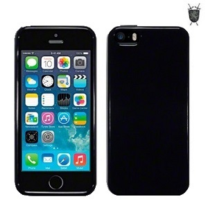 Coque iPhone 5S / 5 FlexiShield - Noire transparente