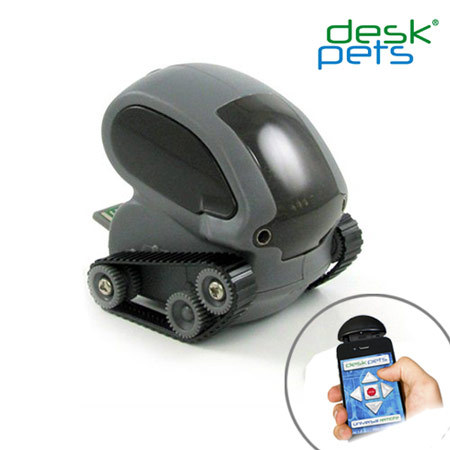 DeskPets TankBot App Controlled Micro Robotic Tank - Grey