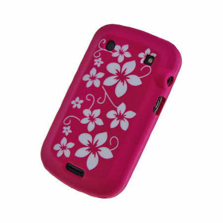 Blackberry bold 9900 silicone case pink flowers reheart Images
