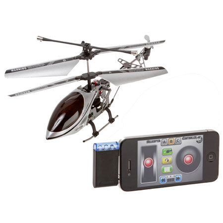 iHelicopter Rechargeable Remote Controlled Copter for Android, iPhone, iPod Touch and iPad