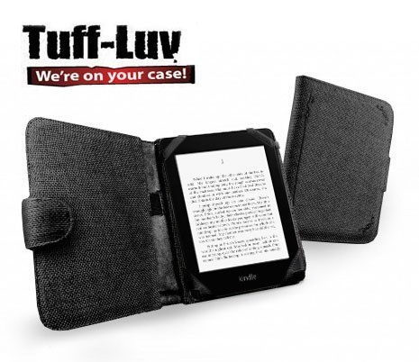 Tuff-Luv Kindle / Paperwhite / Touch Hemp Case - Charcoal