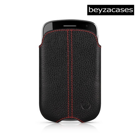 Beyza 'Zero' Series Leather Pocket for BlackBerry Bold 9900 - Black