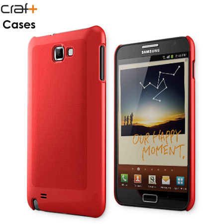 Craft Cases UltraSlim Pattern Shell for Samsung Galaxy Note - Red