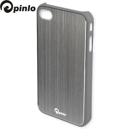 more photos 2e2b1 c285e Pinlo Concize Metal Case for iPhone 4S/4 - Grey