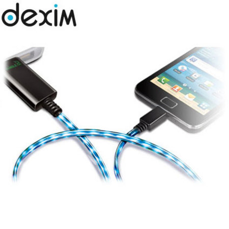 Chargeur micro-USB Dexim Visible - Bleu