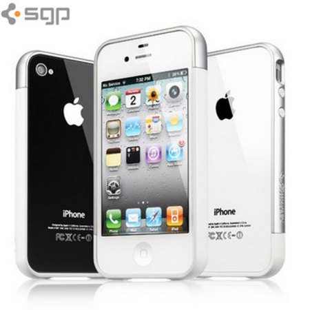purchase cheap 3e44f 20765 Spigen iPhone 4/4S Case Linear EX Meteor Series - Clear/White/Silver
